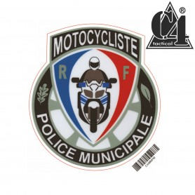 Autocollant 8cm - MOTO POLICE MUNICIPALE